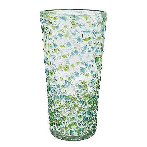 The CONFETTI Green Ice-Tea 16oz Glass by Mariposa -