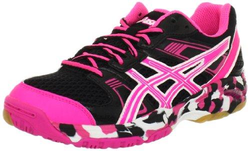 Cheap ASICS Women's Gel-1140V Running Shoe,Black/Hot Pink/White,6 M US