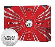Callaway Chrome Soft Personalized Golf Balls - Add Your Own Text (1 Dozen) - White