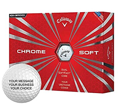 Callaway Chrome Soft Personalized Golf Balls - Add Your Own Text (1 Dozen) - White
