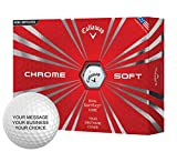 Callaway Chrome Soft Personalized Golf Balls - Add Your Own Text (12 Dozen) - White