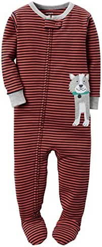 Carters Baby Boys Snug Fit Cotton Footie Pajamas Orange Dog, 5T