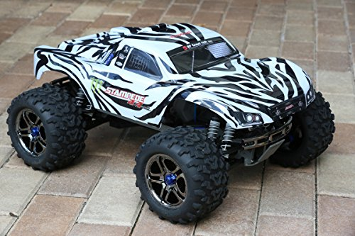 Truck Decal Sheet (Zebra Monster Body for T Maxx E Maxx 1/10 Shell w/ Decal Sheet 3911R E-Maxx (Body Only, Truck Not Included))