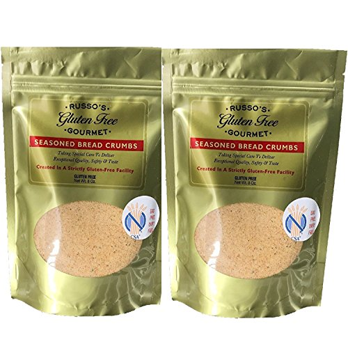 Russo's Gluten Free Bread crumbs (2 Pack X 8 Oz) - Seasoned Absolutely Gluten Free Breadcrumbs -Delicious & Tasty, Made in a strictly Glutenfree Facility by Russo's Gluten Free Gourmet (Image #9)