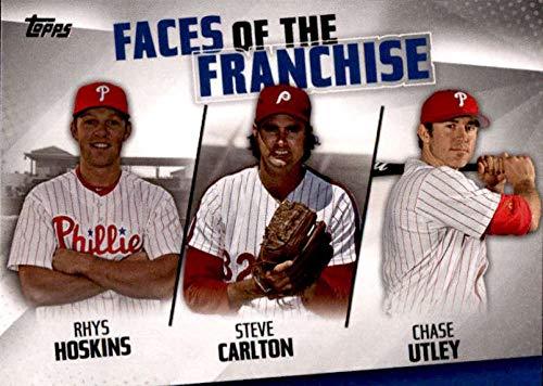 2019 Topps Faces of the Franchise Trios #FOF-21 Chase Utley/Steve Carlton/Rhys Hoskins Philadelphia Phillies Baseball Card