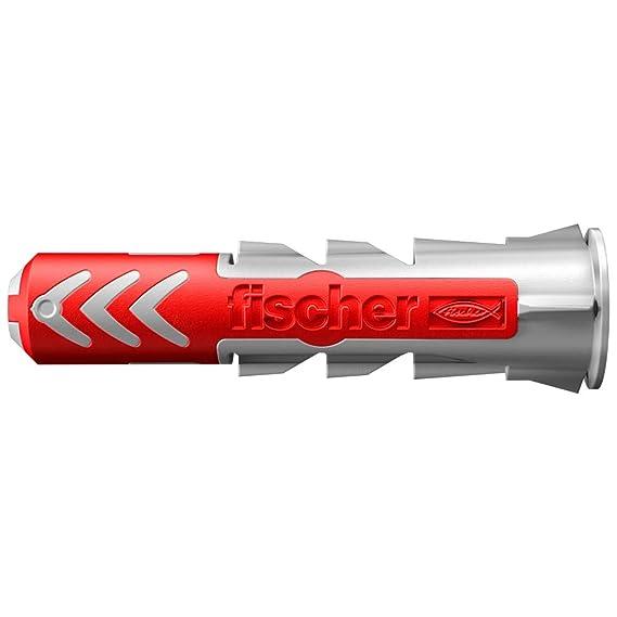 Bag of 10 Units Red FISCHER 541888 DuoTec Plug Grey