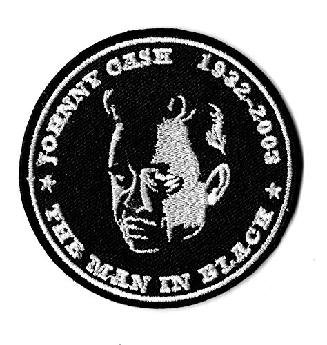 Embroidery Patch New Johnny Cash ' The Man in Black' 1932 2003 Iron on, 2 3/4
