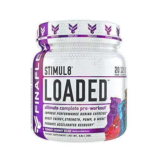 STIMUL8 Loaded, Ultimate Complete Pre-Workout, Improve Performance During Exercise, Boost Energy, Strength, Pump, Promote Accelerated Recovery, for Men & Women, 20 Servings (Yummy Gummy Bear)