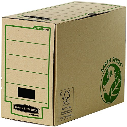 Bankers Box Earth Series A4Magazine File, 100% Recycled, Brown, Pack of 20 150 - Series Earth Fellowes