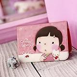 Korean Lovely Girls ID Credit Card Wallet Holder Pocket Bag Case (Momi-Pink), Bags Central