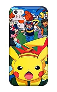 Rugged Skin Case Cover For Iphone 5/5s- Eco-friendly Packaging(pokemon)