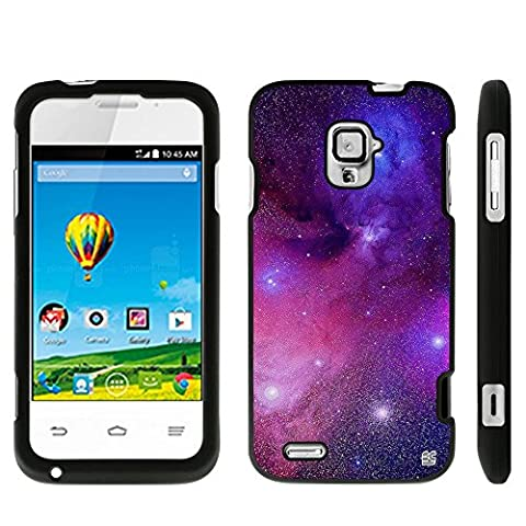 Protective Case For ZTE Rapido LTE Z932L Slim Two Piece Snap On Hard Plastic Rubberize Feel Durable Drop Proof Galaxy (Zte Rapido Phone Cases)