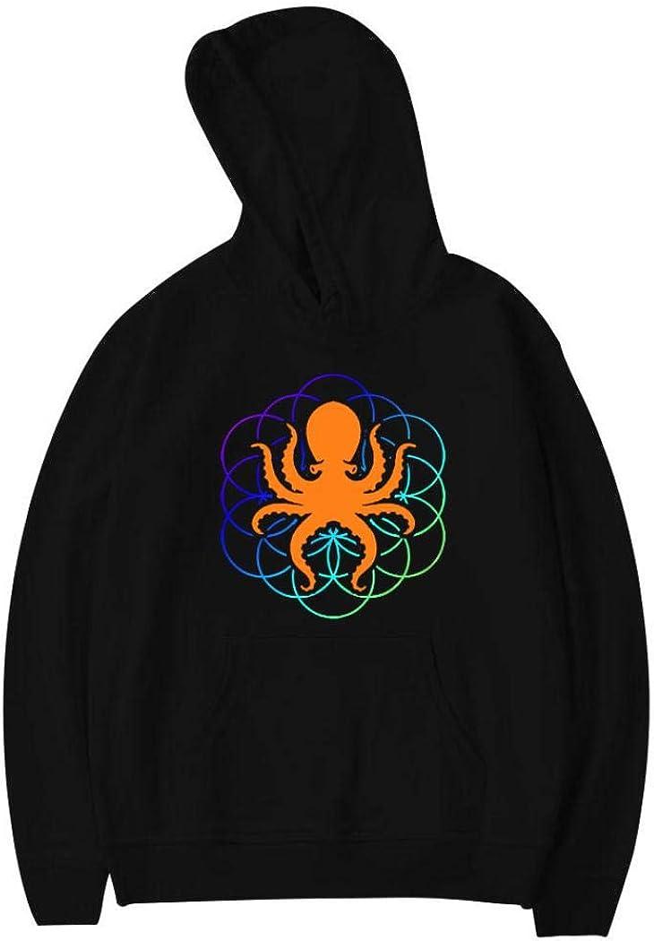 TechZoo Psychedelic Sacred Geometry Octopus Youth Pullover Hoodie Heavy Fleece Sweatshirts Jumper Long Sleeves Top Hoody