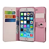 AceAbove iPhone 6S Wallet Case, Premium PU Leather Wallet Cover with [Card Slots] & [Stand] Function for Apple iPhone 6 (2014)/iPhone 6S (2015) – Pink