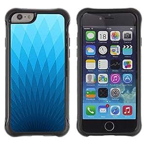 Suave TPU GEL Carcasa Funda Silicona Blando Estuche Caso de protección (para) Apple Iphone 6 / CECELL Phone case / / Wallpaper Blue Light Triangle Geometrical Art /