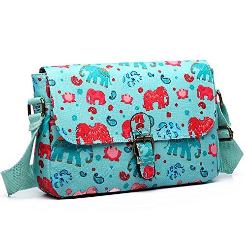 Lulu Miss - One Size Woman Crossed Elephant Light Blue Bag
