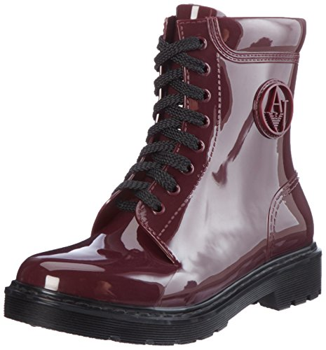Women's Stivale Red Jeans Armani Burgundy Combat Boots O1qF5wx