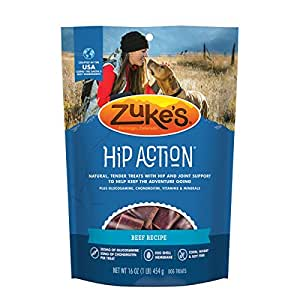 Zuke's Hip Action Beef Recipe Dog Treats - 16 oz. Pouch (package may vary)