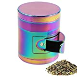 AIMAKE New Design Herb Weed& Spice 4 Piece Large 2.5 Inches Mills Grinder with Pollen Catcher (rainbow)