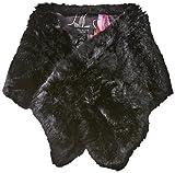 Ted Baker London Women's Una Faux Fur Long Scarf, Black, One Size