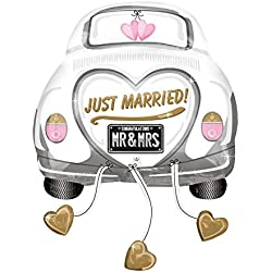 Anagram International 2454201 Just Married Wedding Car Balloon Pack, 31""