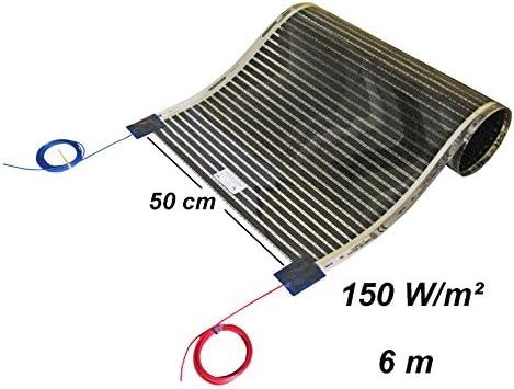 230.00 voltsV 8/m Calor iQue Chemins De Chauffage Sol Film chauffant infrarouge chauffage Chauffage au sol Set 50/cm 150/W//m/²//longue 1