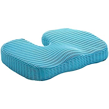 ChiroDoc Coccyx Seat Cushion with UltraCool Mesh Cover & Ergonomic Orthopedic Memory Foam - Perfect For Coccyx & Tailbone Pain Relief (Sciatica) - Reduce Lower Back Pain From Sitting All Day