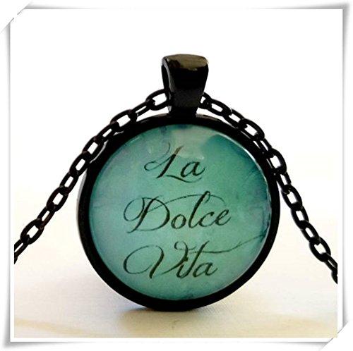 Dolce Glass Pendant (La Dolce Vita Necklace | Glass Pendant | The Sweet Life |)