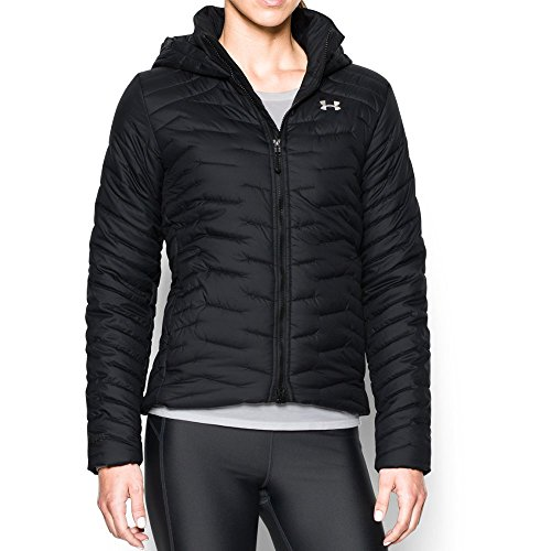 Under Armour Outdoor Coldgear Hood (Under Armour Women's ColdGear Reactor Hooded Jacket, Black/Black, X-Large)