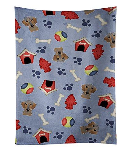 Caroline's Treasures BB4012KTWL Wirehaired Dachshund Kitchen Towel, 25