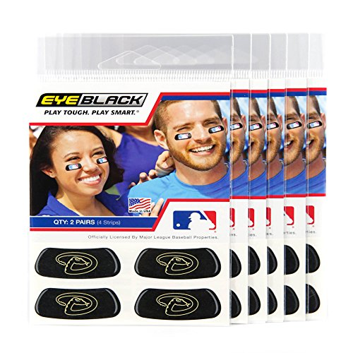 EyeBlack (24 Strips) - Arizona Diamondbacks MLB Eye Black Anti Glare Strips, Great for Fans & Athletes on Game Day