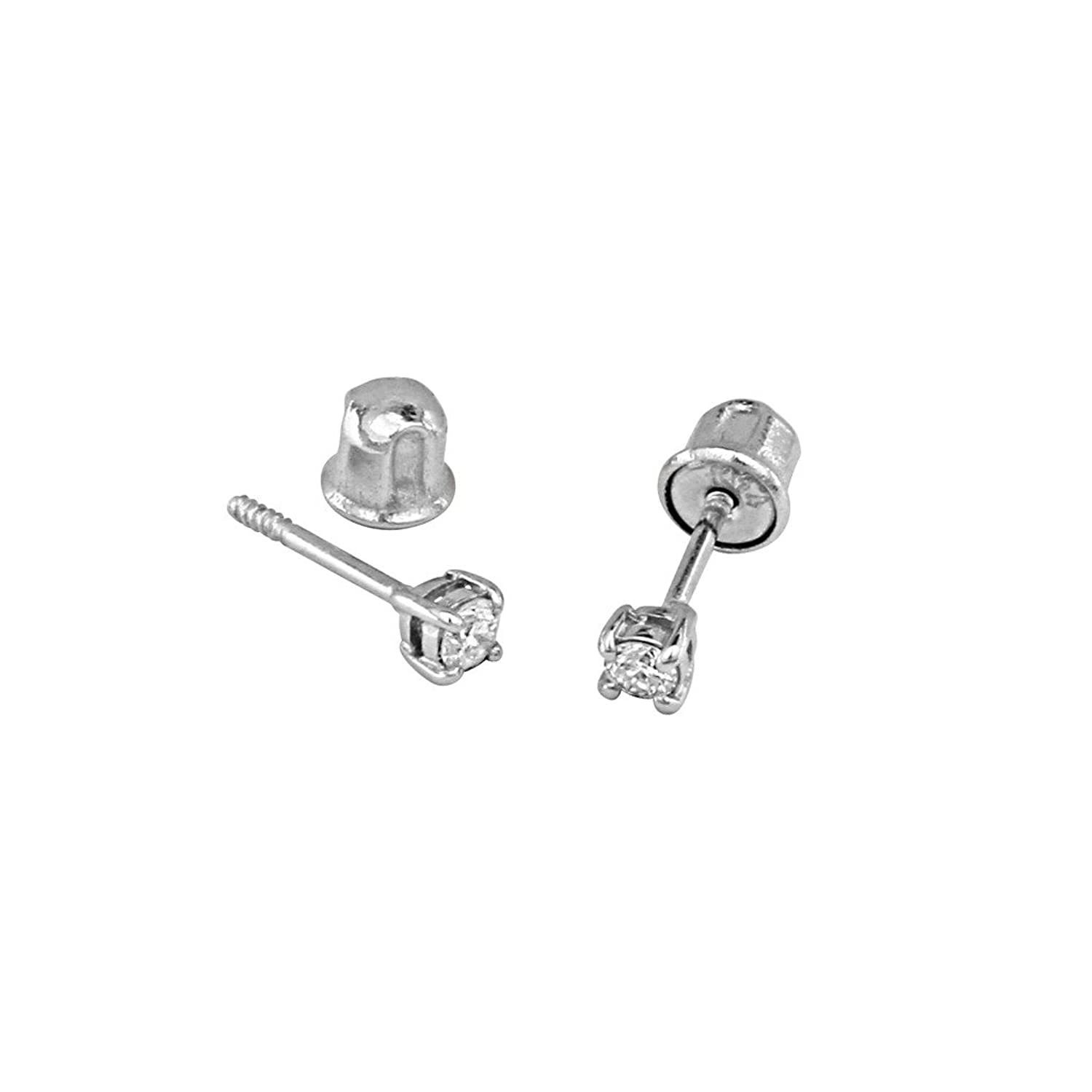 clear dp cz earrings com ear system silver hypoallergenic studs piercing post stainless amazon mini studex type