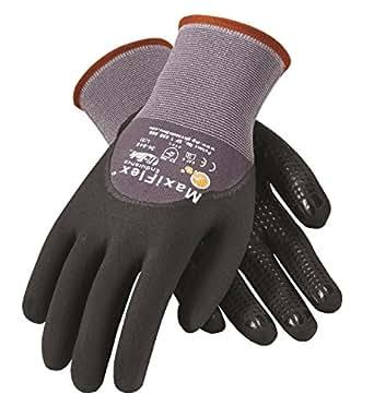 PIP G-TEK Maxi Flex Endurance 34-845 Seamless Knit Coated Gloves Pair, Small/X-Large, 3 Piece