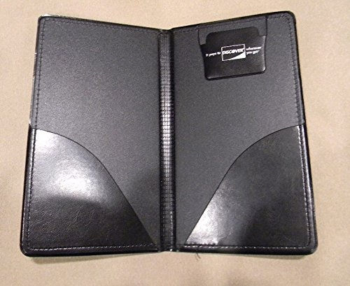 NEW Restaurant Waitstaff Waiter Waitress Double Panel Checkbook Presenter Leather Black Good Quality