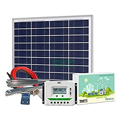 Unlimited Solar P4 Series 55 Watt 12 Volt Off-Grid Solar Panel Kit