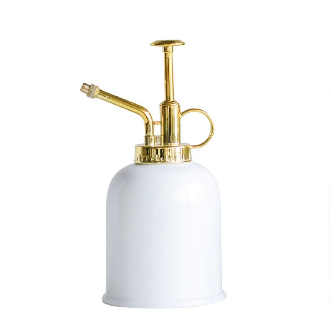 Creative Co-Op Metal & Brass Pump Accent Plant Mister,White