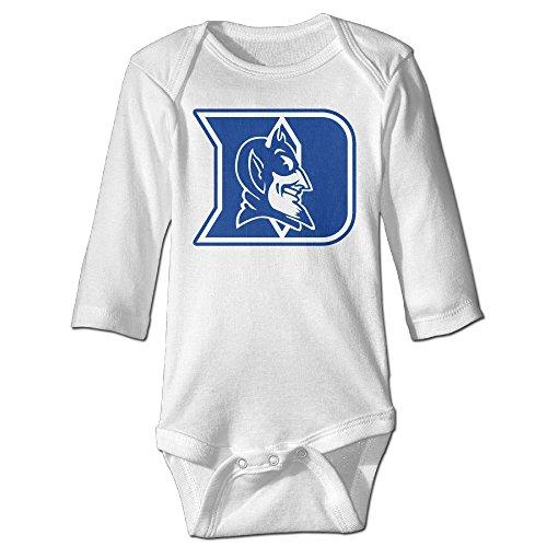 Missone Boy's & Girl's Duke Football Devils Long Sleeve Bodysuit Outfits