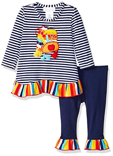 Bonnie Baby Baby Girls Holiday Dresses and Legging Sets, Navy Backpack, 6-9 Months]()
