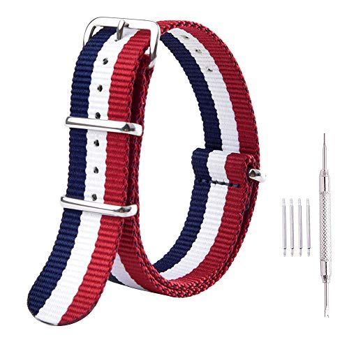 - Ritche 22mm NATO Strap Nylon Watch Band Replacement Watch Straps for Men Women