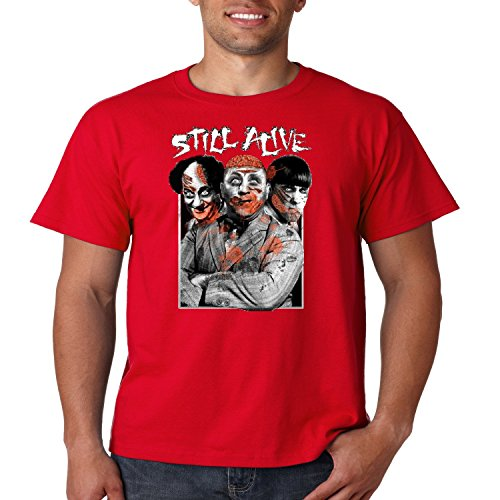 The Three Stooges T-Shirt Still Alive Zombie Attack Mens Tee S-5XL -