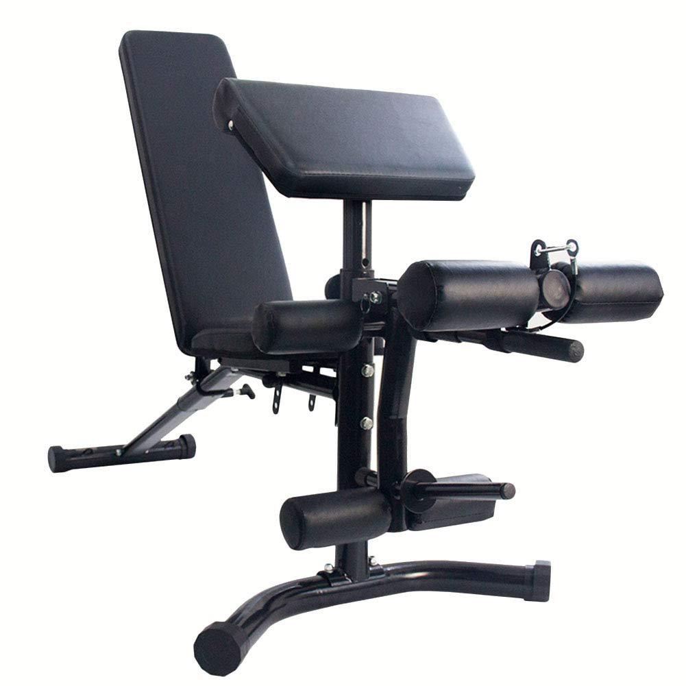 Multifunktions Hantelbänke All-in-One Utility Fitnessbank, Trainingsgewicht Sit Up Bank für Ganzkörpertraining Hochleistungsverstellbar, Flache Neigung Abnahme Multiuse