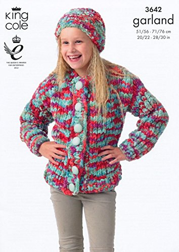 Amazon King Cole Girls Sweater Hat Scarf Garland Knitting