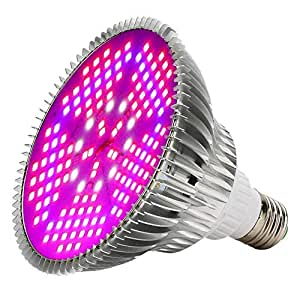 100W LED Grow Light Bulb, WECLUB 150 LEDs 3 Mode Full Spectrum Bloom Growth Plant Growing Lamp, E27 E26 Indoor Plant light for Vegetable Greenhouse Hydroponic Grow Tent, AC.85-265V. [FCC,CE,ROHS CERT]
