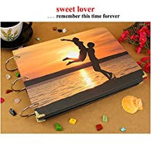 2015 NewSweet Couple Lover Album Sunset Embrace Photo Wedding Albums Wholesale Creative Wedding Scrapbook Adhesive Get Marry Lover Album
