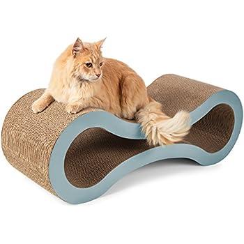 "Paws & Pals 34""x10.5""x10.5"" Inches Pet Cat Scratcher and Lounger – Light Blue"