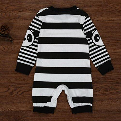 Mono bebé Amlaiworld Recién Infantil Bebé Niños niñas Raya Panda Impresión Mameluco Ropa Nergo