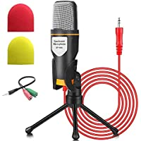 Micrófono de PC NIERBO con soporte de micrófono, micrófono de condensador de grabación Jack profesional de 3.5 mm…