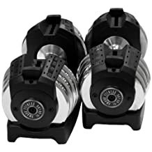 XMark Fitness Pair of Adjustable Dumbbells