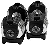 XMark Pair of Adjustable 50 lb. Dumbbells