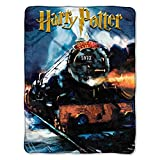 1 Piece 46 X 60 Blue Black Harry Potter Theme Throw Blanket, Hogwarts Express Houses Of Hogwarts School Of Witchcraft And Wizardry Bedding Movie Book Series Wizard Micro Rashcel Soft Warm, Polyester